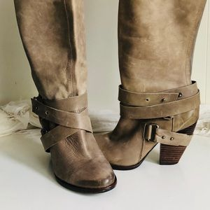 EDIT MESFergie Beige knee Boot Leather  HOT • 7.2